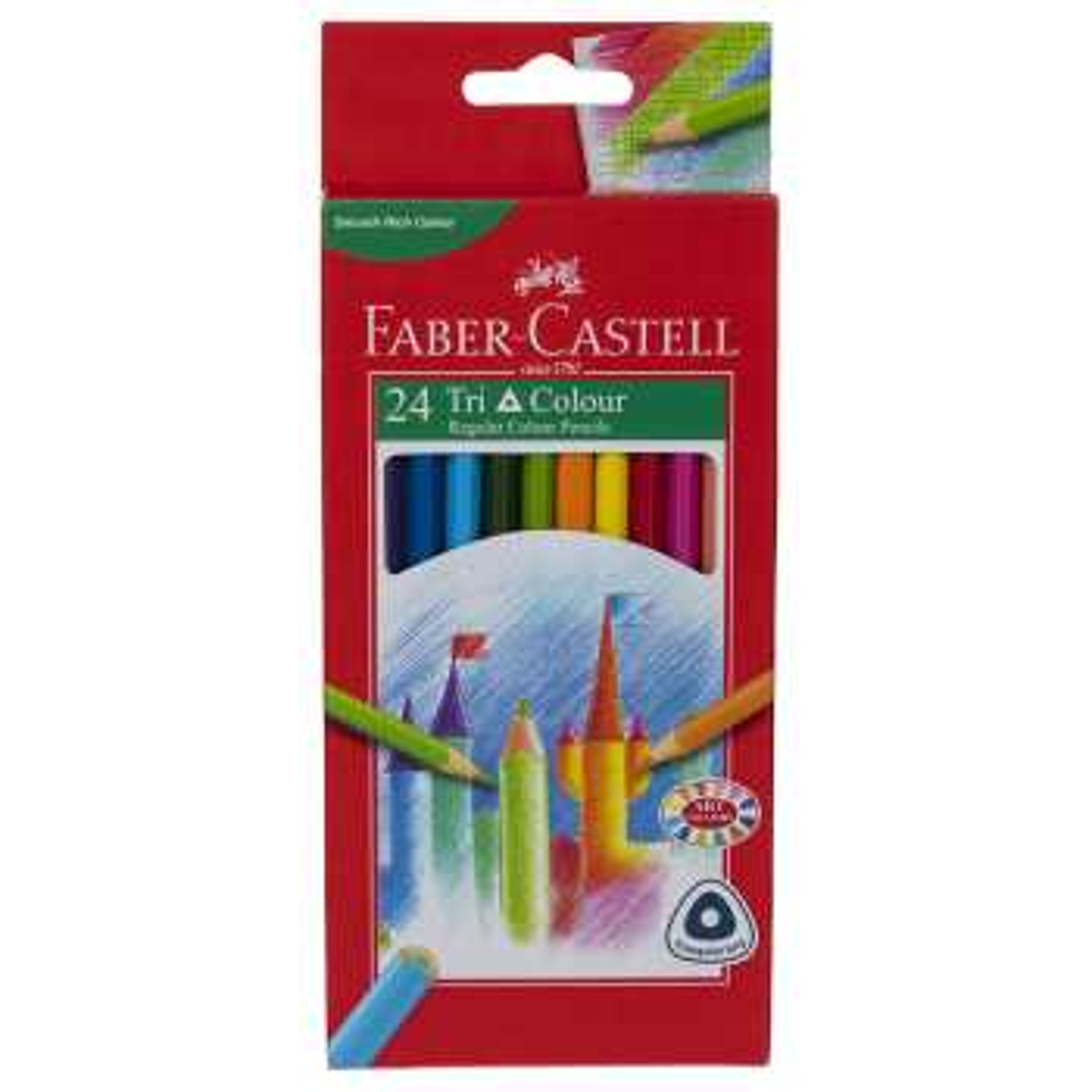 مداد رنگی 24 رنگ فابر کاستل مدل Tri Colour