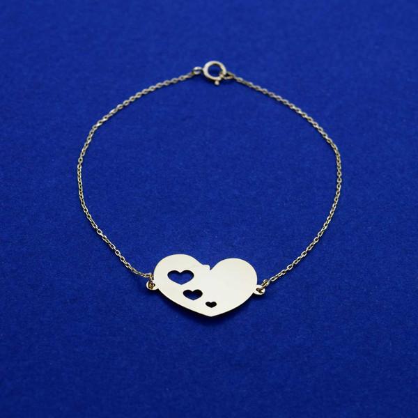 دستبند طلا 18 عیار زنانه کانیار گالری مدل B47