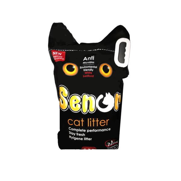 خاک بستر گربه senor  وزن 5 کیلوگرم