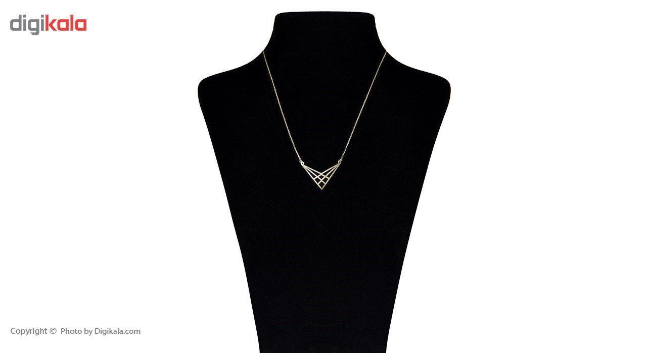 گردنبند طلا 18 عیار ماهک مدل MM0451 -  - 4