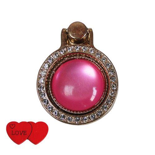 حلقه نگهدارنده موبایل مدل Fantasy Ring کد 01 همراه استیکر موبایل طرح Love