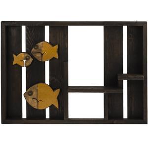 طبقه چوبی گالری ویلو وود طرح ماهی زرد