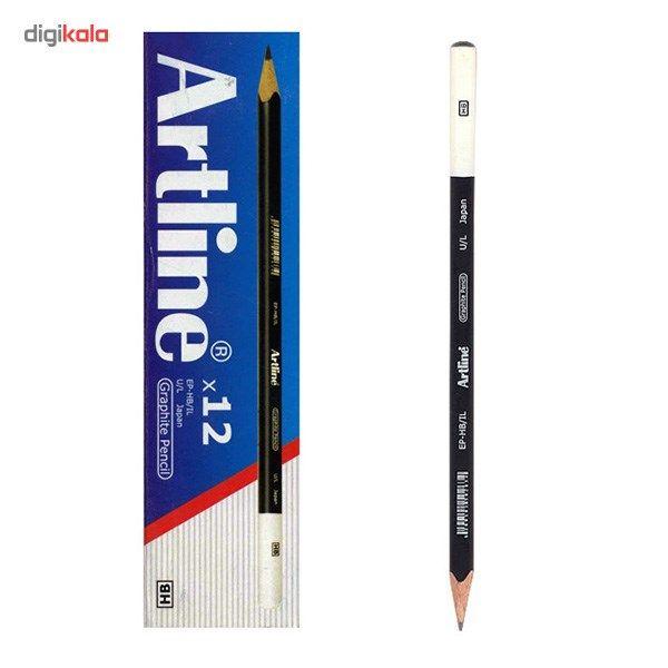 مداد آرت لاین مشکی چوبی بسته 12 عددی main 1 1