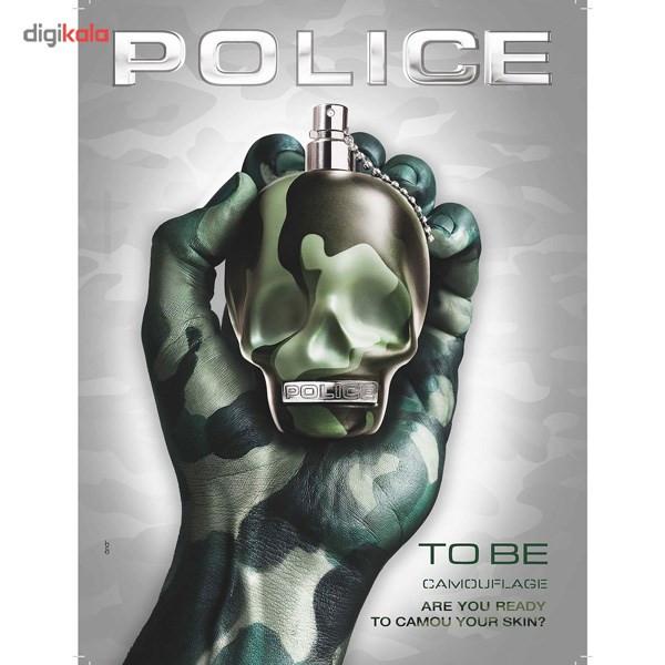 ادو تویلت مردانه پلیس مدل To Be Camouflage حجم 125 میلی لیتر