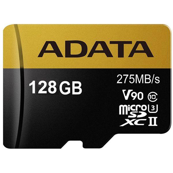 کارت حافظه microSDXC ای دیتا مدل Premier ONE V90 کلاس 10 استاندارد UHS-II U3 سرعت 275MBps ظرفیت 128 گیگابایت