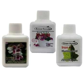 پک کود مایع مخصوص گلدهی و رویش گرین گروت مجموعه 3 عددی