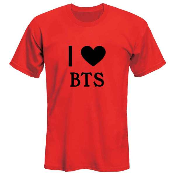 تی شرت آستین کوتاه زنانه  طرح BTS مدل 36138