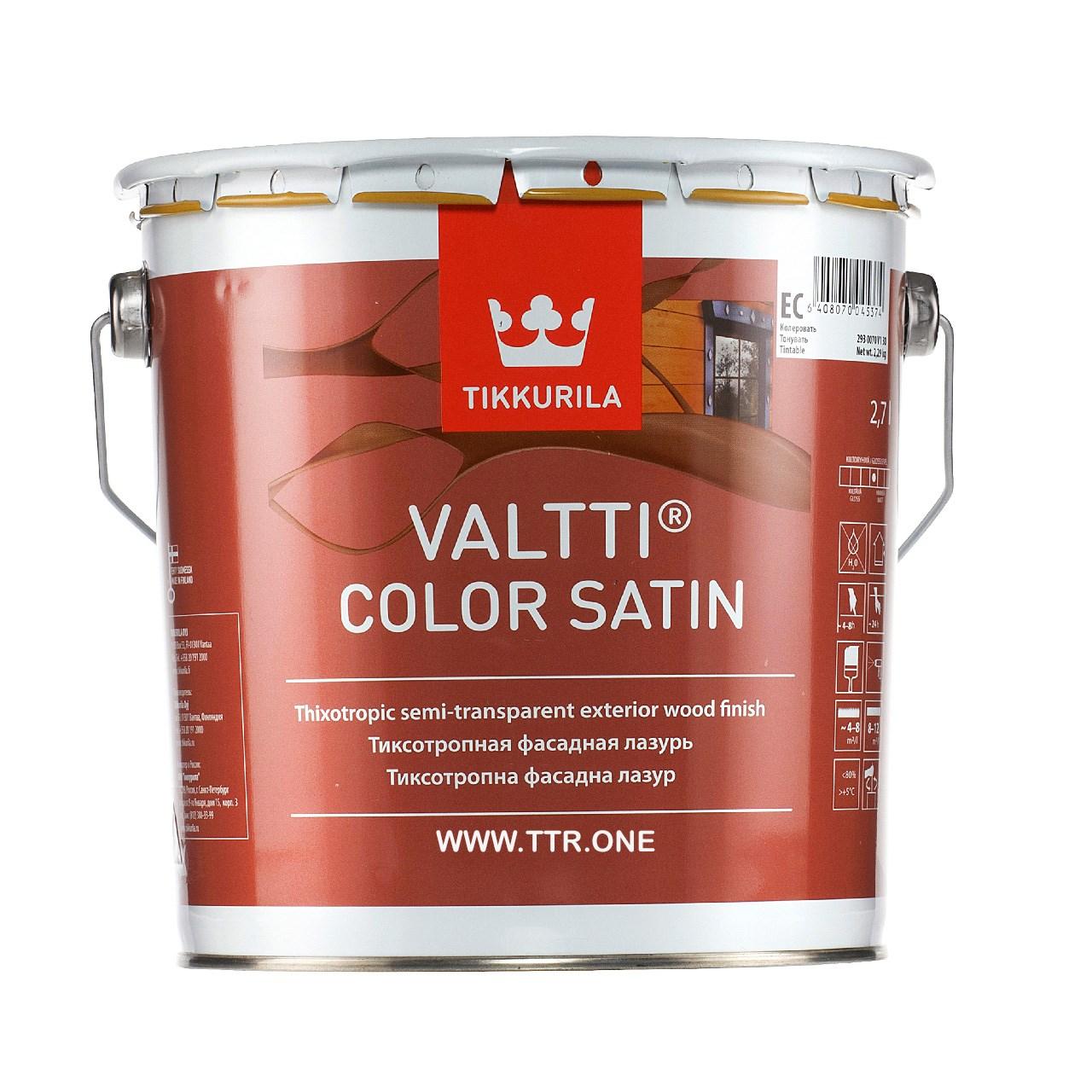 رنگ پایه روغن تیکوریلا مدل Valtti Color Satin 5063 حجم 3 لیتر
