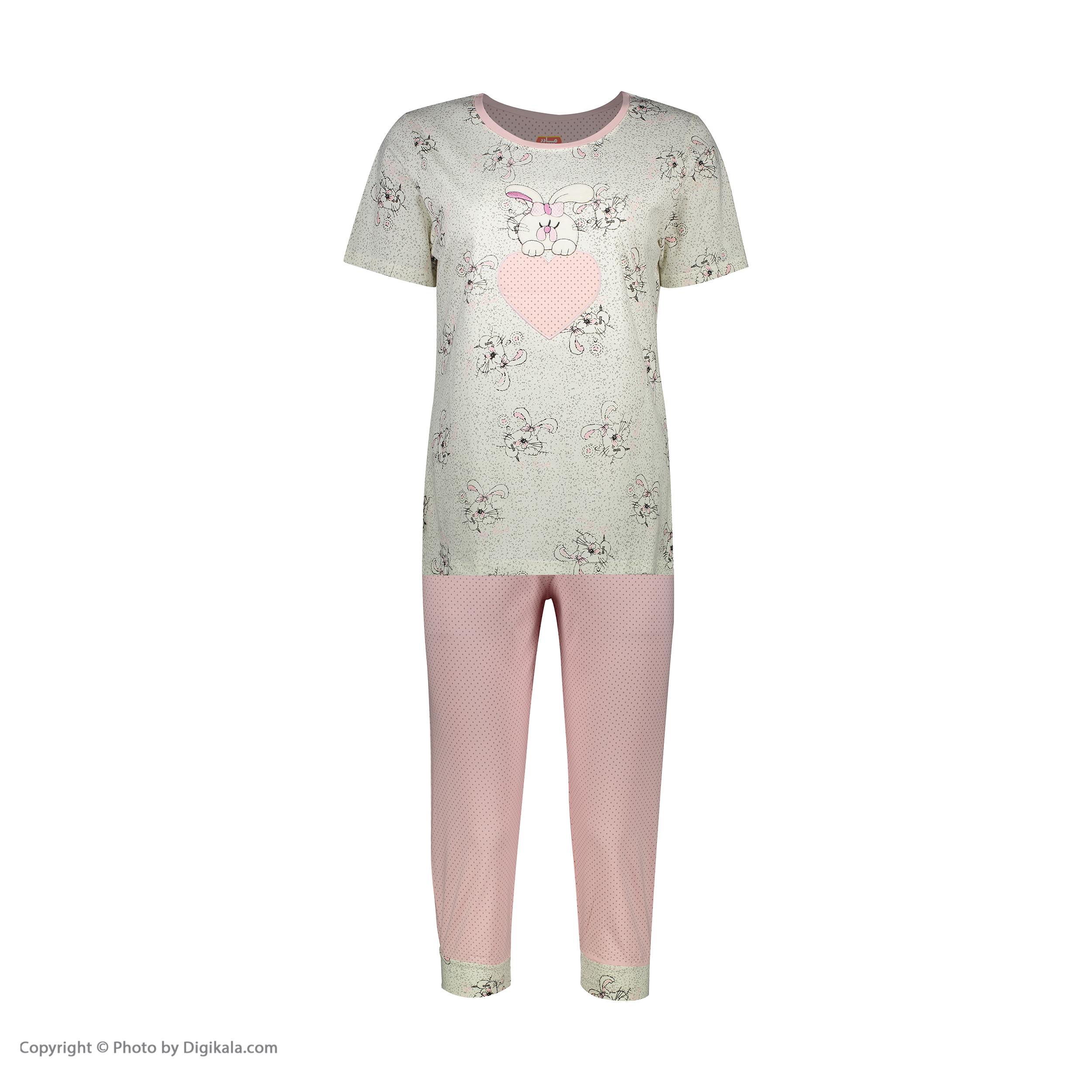 ست تی شرت و شلوارک راحتی زنانه مادر مدل 2041105-84 -  - 3