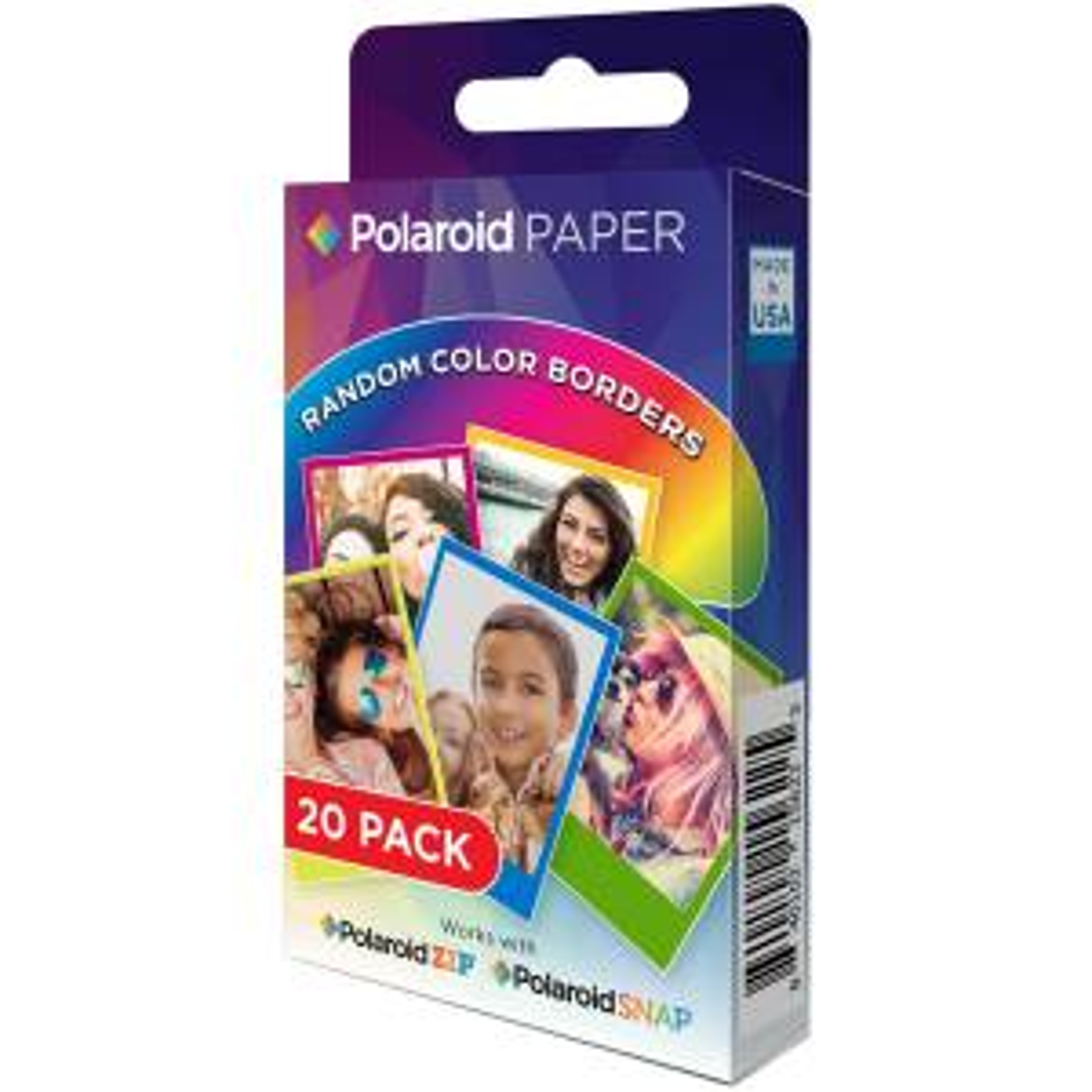 کاغذ چاپ سریع پولاروید مدل Rainbow Border ZINK سایز  2x3 اینچ بسته 20 عددی