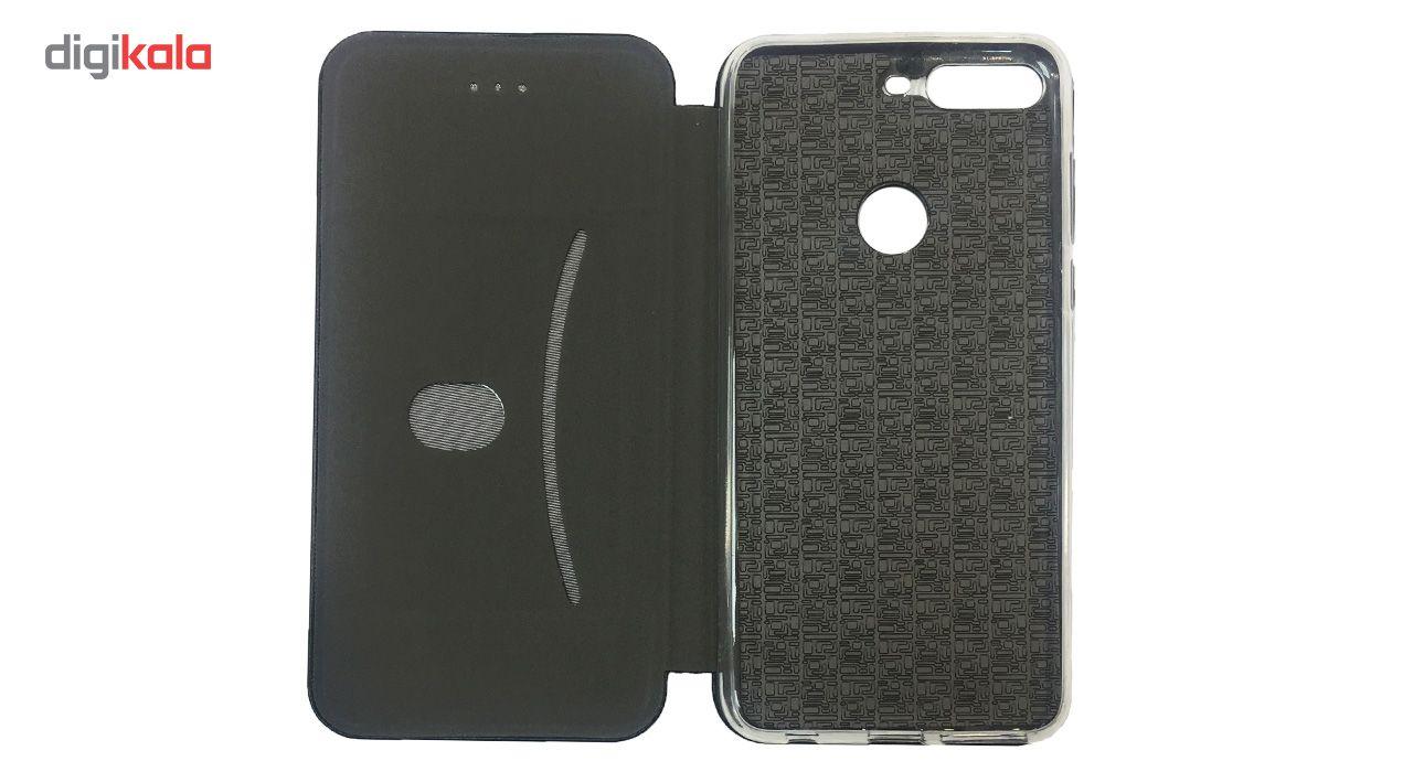 کیف کلاسوری مدل Leather  مناسب برای گوشی موبایل هواوی Y7 Prime 2018 main 1 2