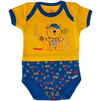 زیر دکمه دار آستین کوتاه آدمک مدل Little Bear