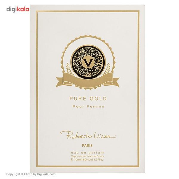 ادو پرفیوم زنانه روبرتو ویزاری مدل Pure Gold حجم 100 میلی لیتر