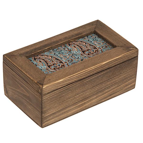 جعبه چوبی گالری زیما طرح ترمه مستطیلی سایز کوچک