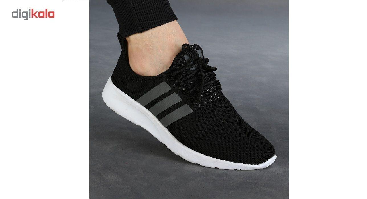کفش ورزشی مردانه سه خط مشکی مدل rzai main 1 2