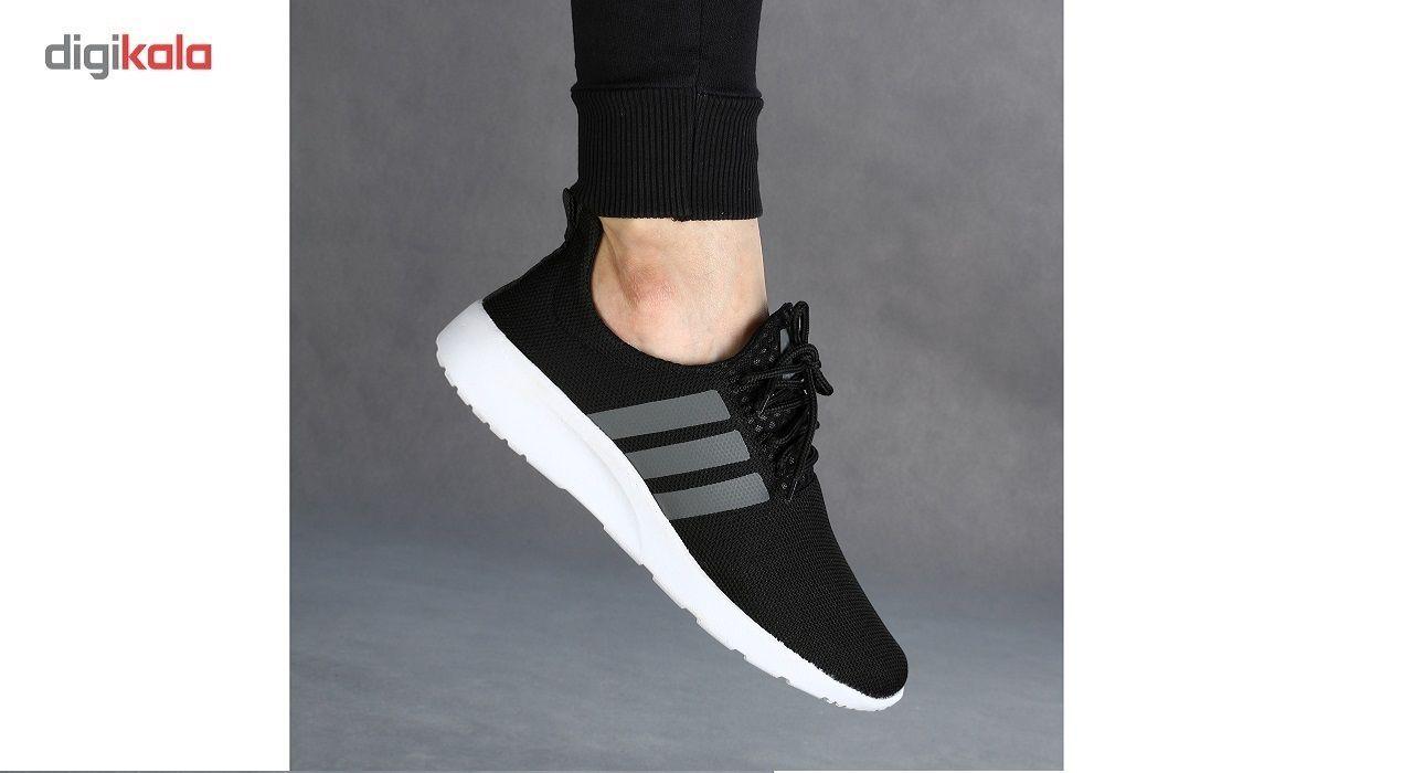 کفش ورزشی مردانه سه خط مشکی مدل rzai main 1 3
