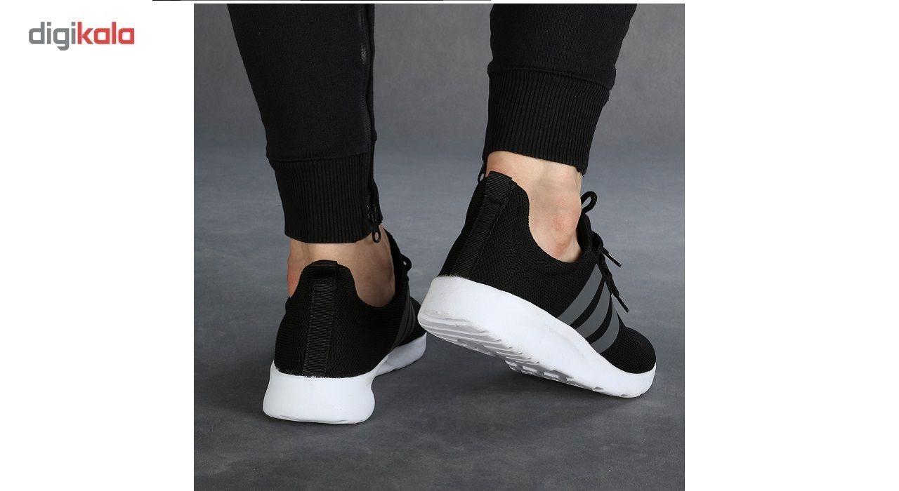 کفش ورزشی مردانه سه خط مشکی مدل rzai main 1 4