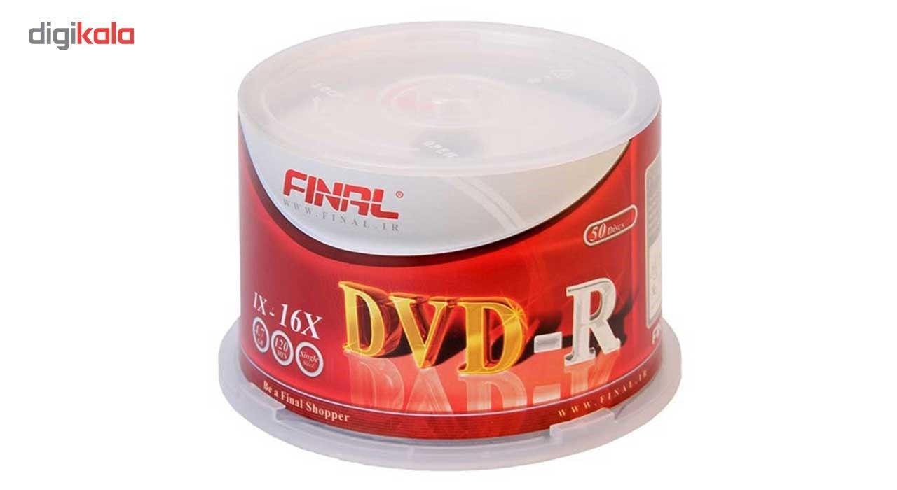 دی وی دی خام  فینال مدل DVD-R بسته 50 عددی main 1 1