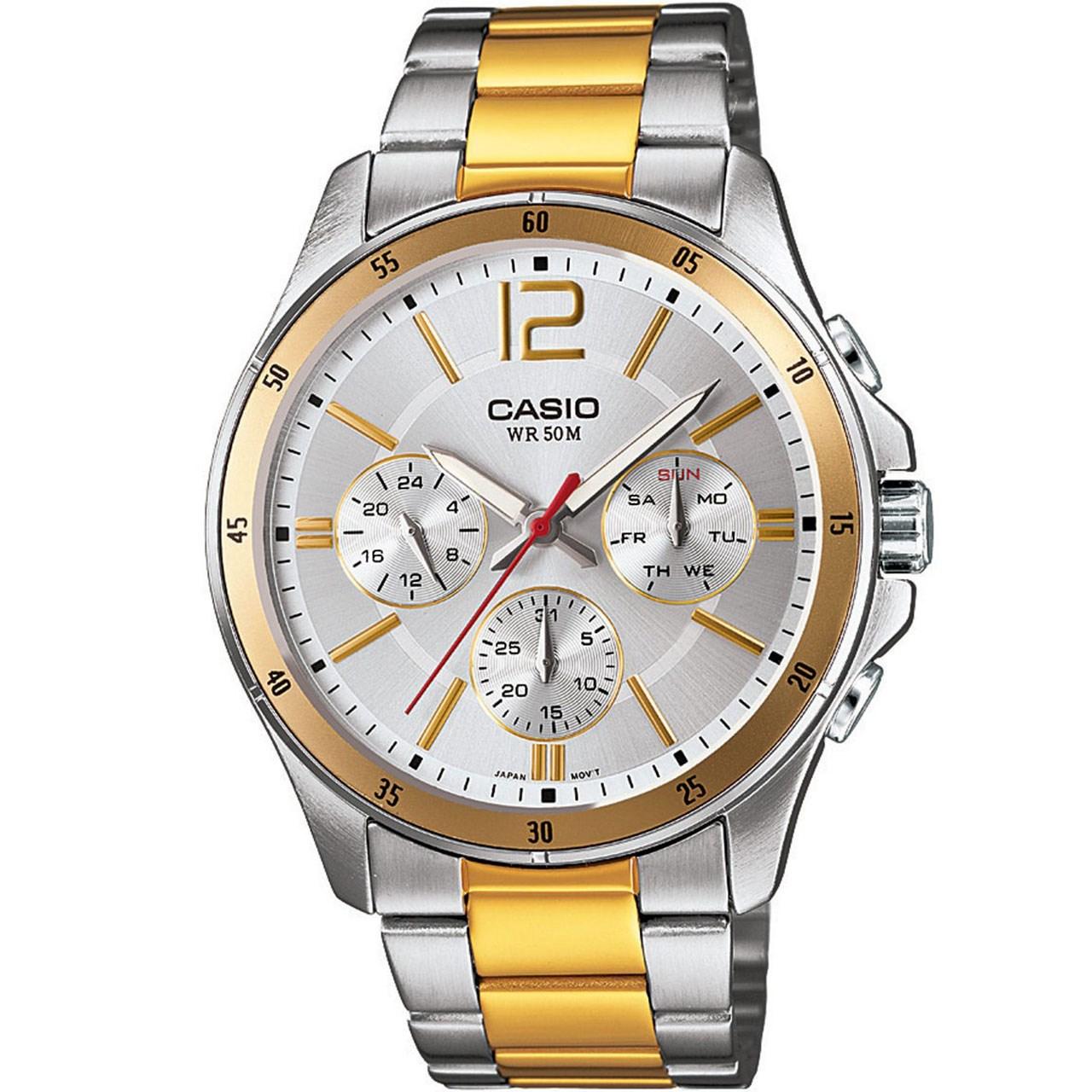 ساعت مچی عقربه ای مردانه کاسیو مدل MTP-1374SG-7AVDF              خرید (⭐️⭐️⭐️)