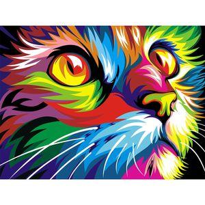 تابلو شاسی گالری هنری پیکاسو طرح گربه سایز 90x60 سانتی متر