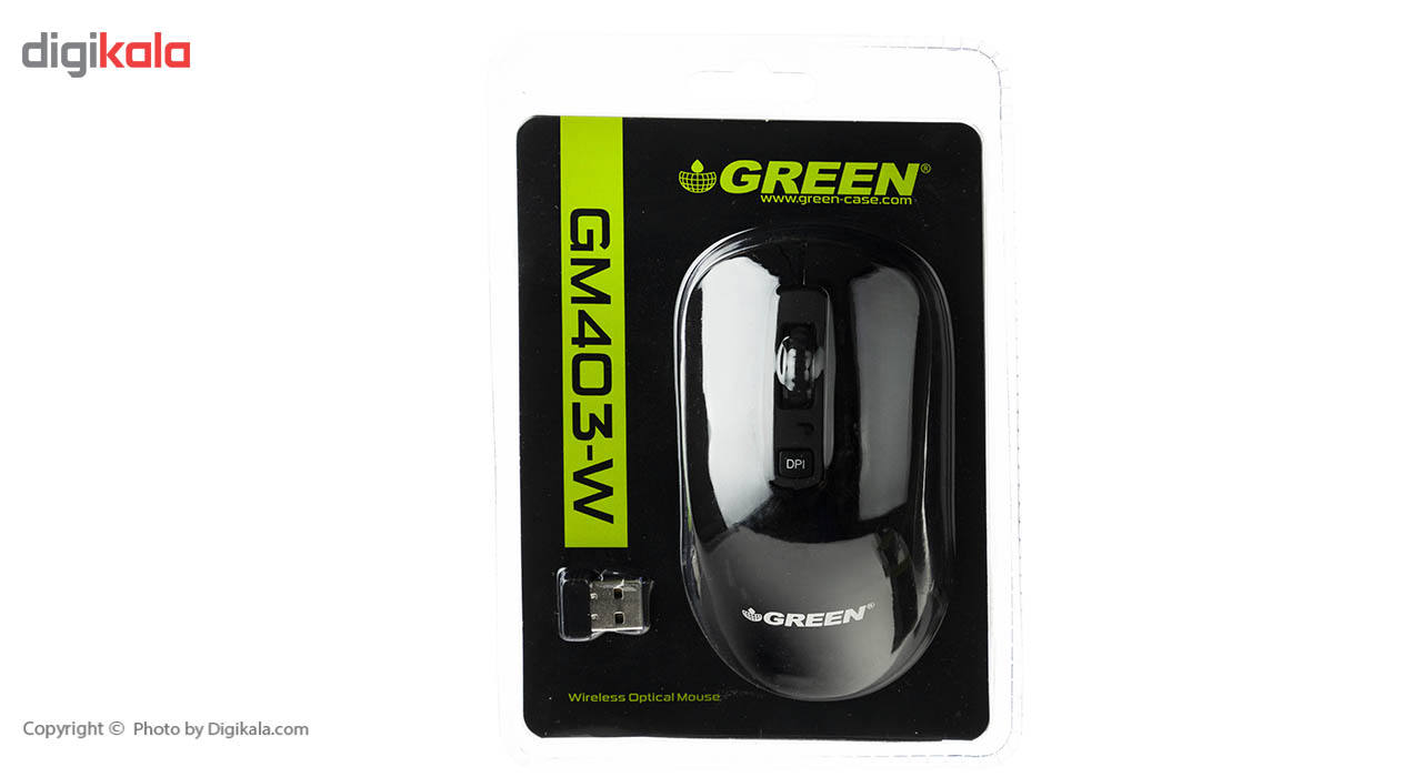 ماوس بی سیم گرین مدل GM403W main 1 2