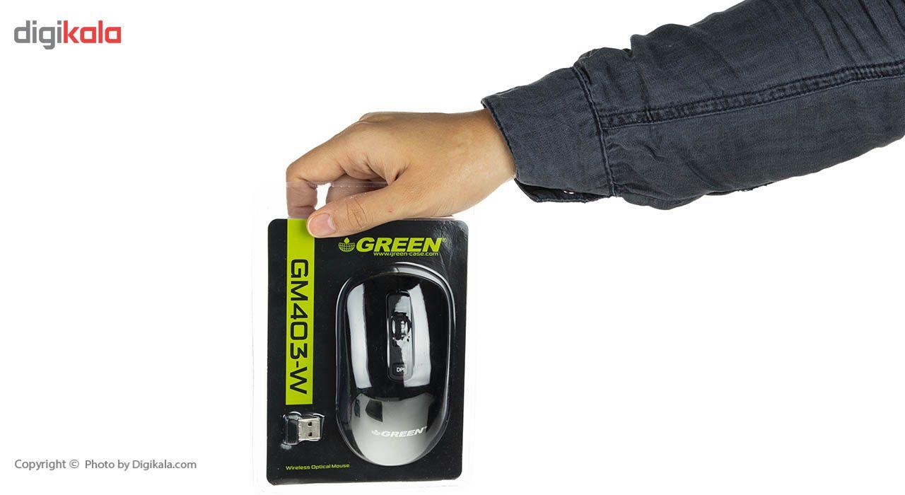 ماوس بی سیم گرین مدل GM403W main 1 3