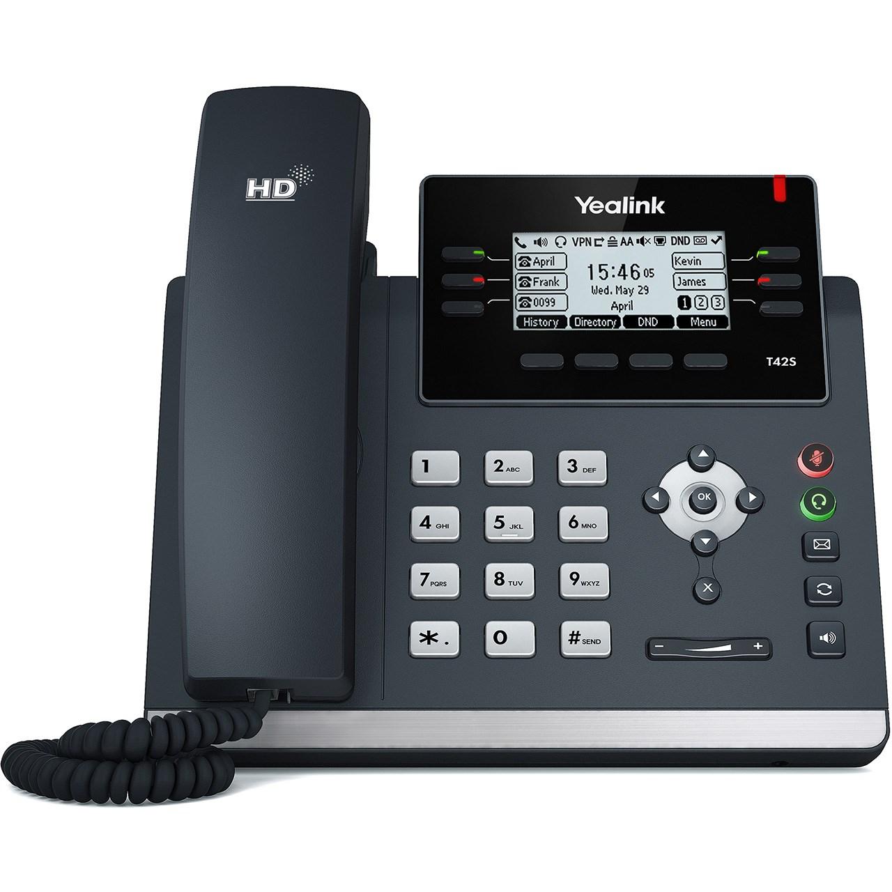 قیمت                      تلفن تحت شبکه یالینک مدل SIP T42S