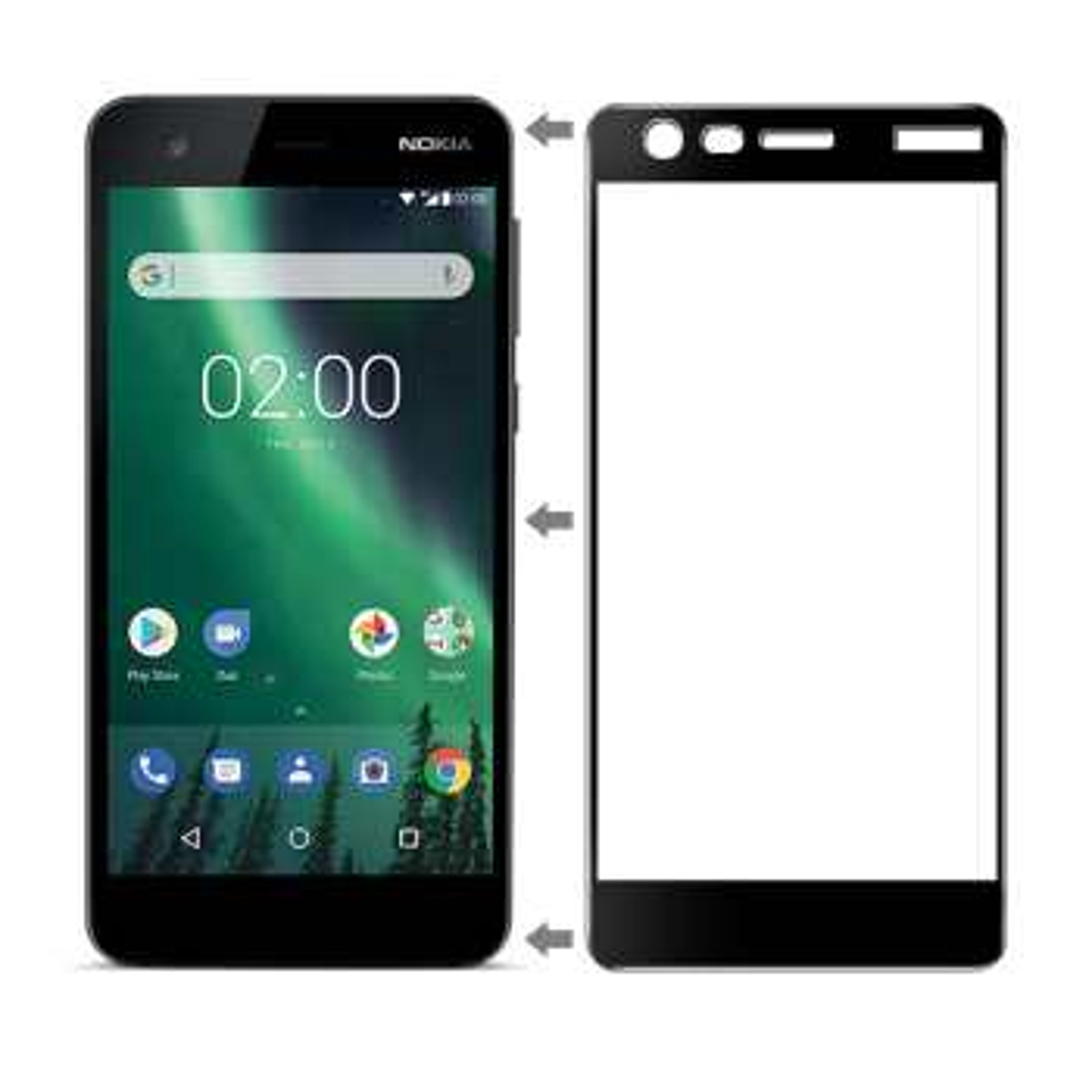محافظ صفحه نمایش شیشه ای تمپرد مدل Full Cover مناسب برای گوشی موبایل نوکیا 2