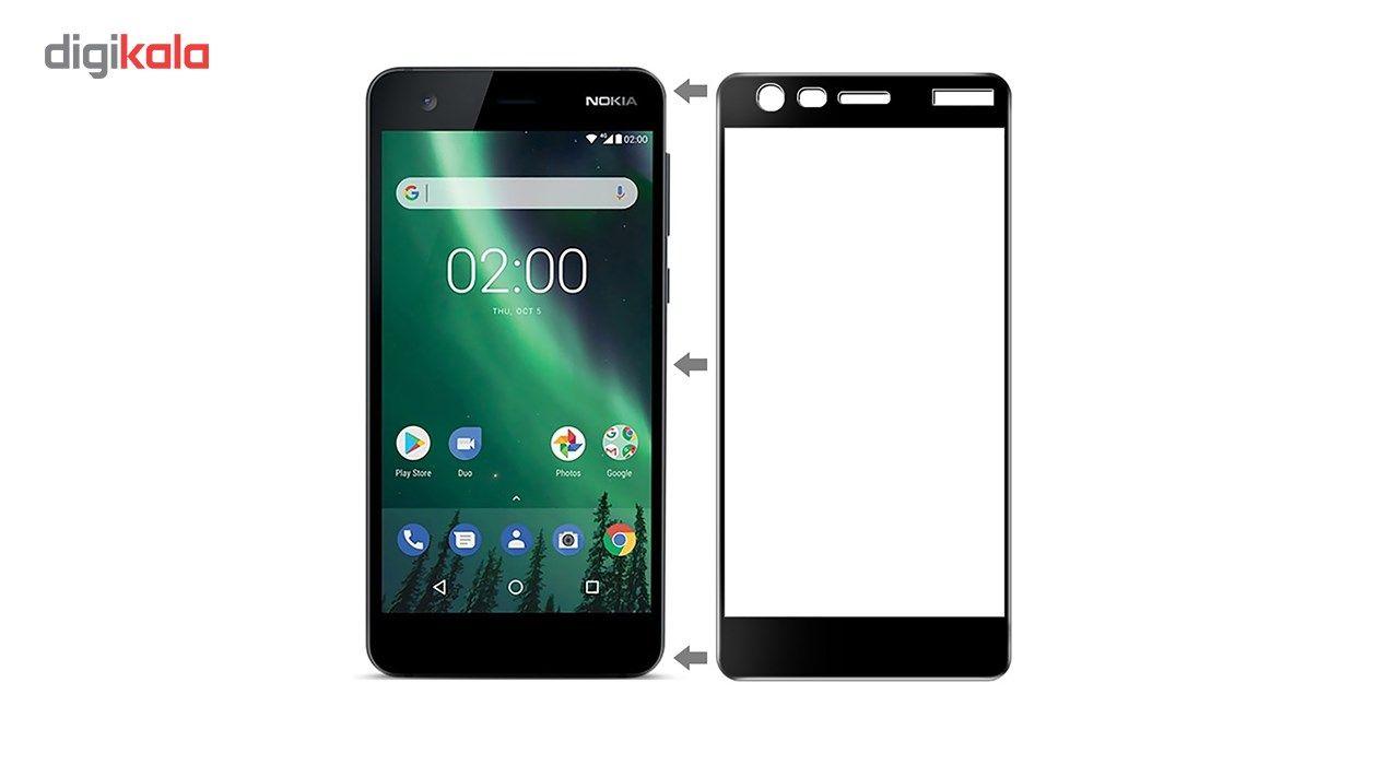 محافظ صفحه نمایش شیشه ای تمپرد مدل Full Cover مناسب برای گوشی موبایل نوکیا 2 main 1 1