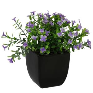 گلدان سرامیک به همراه گل مصنوعی هومز طرح مینا مدل 30475