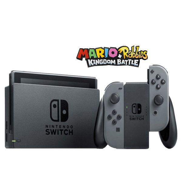 مجموعه کنسول بازی نینتندو مدل Switch Neon Gray Joy-Con   Nintendo Switch With Gray Joy Con Bundle Game Console