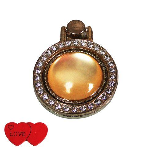 حلقه نگهدارنده موبایل مدل Fantasy Ring کد 02 همراه استیکر موبایل طرح Love