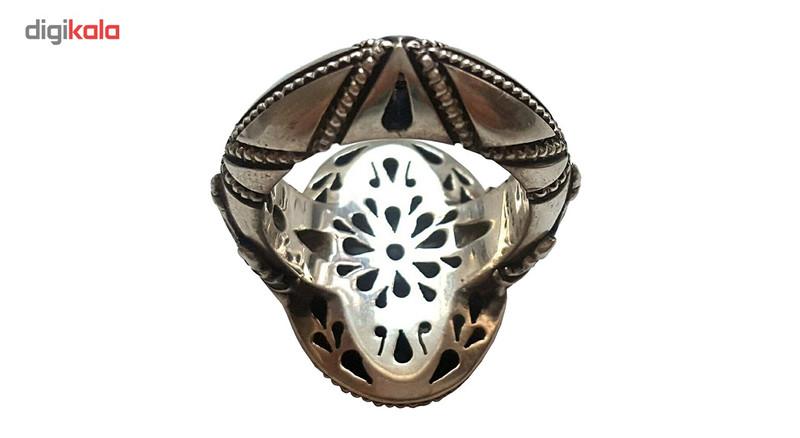 انگشتر نقره جواهرسرا  مدل عقیق پرتقالی خطی