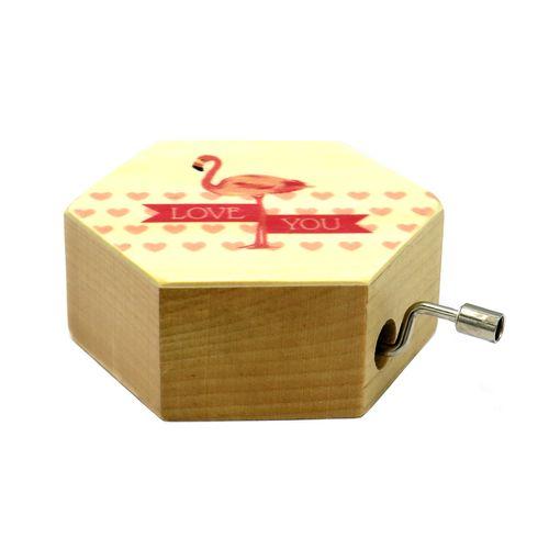موزیک باکس فانتزی مدل  Delightful Wooden Box