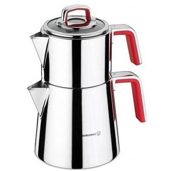 تصویر کتری و قوری کرکماز کد 1-A081 Korkmaz A081-1 Teapot And Kettle Set