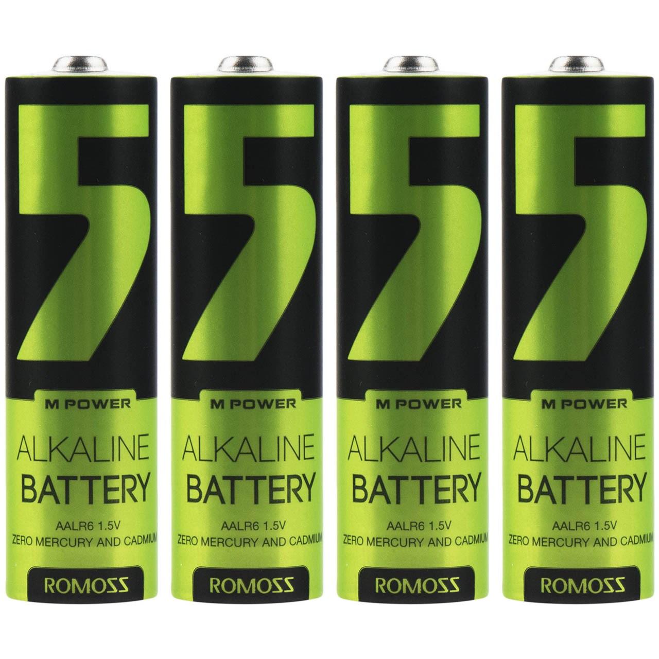 باتری قلمی روموس مدل Alkaline بسته 4 عددی