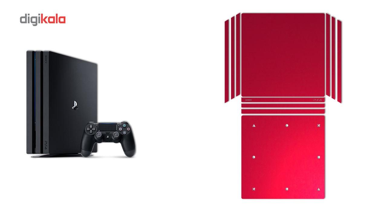 برچسب ماهوت مدل Red-Color Special مناسب برای کنسول بازی PS4 Pro