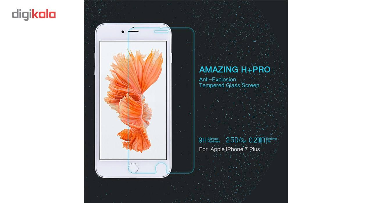 محافظ صفحه نمایش شیشه ای نیلکین مدل Amazing H Plus Pro Anti-Explosion مناسب برای گوشی موبایل آیفون 7 پلاس main 1 2