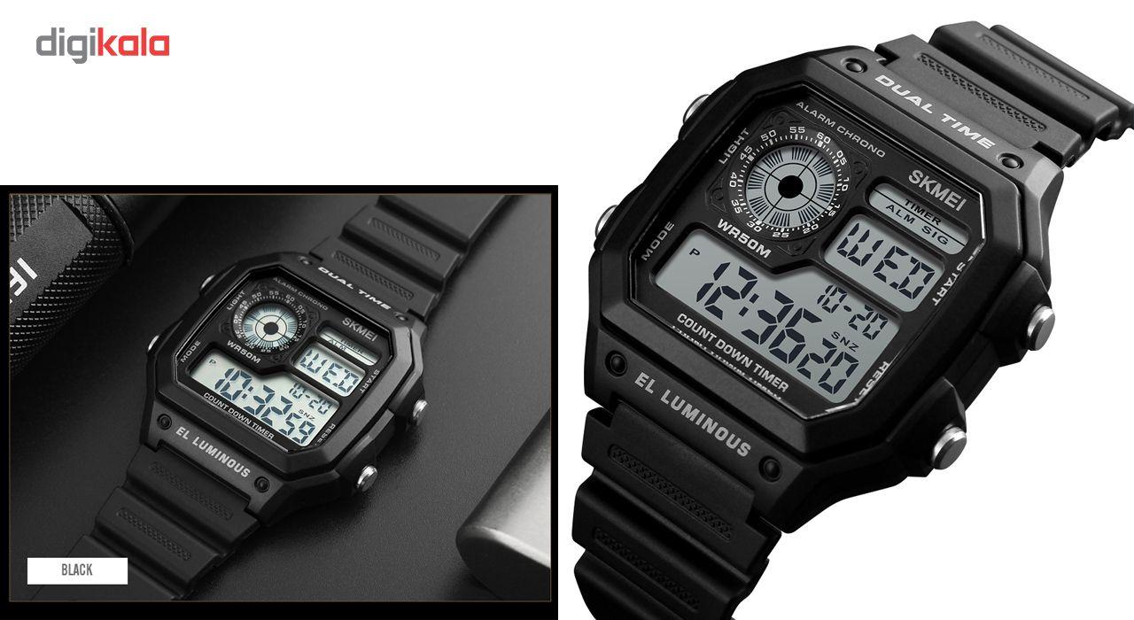 ساعت مچی دیجیتالی اسکمی مدل 1299 کد 01 -  - 1