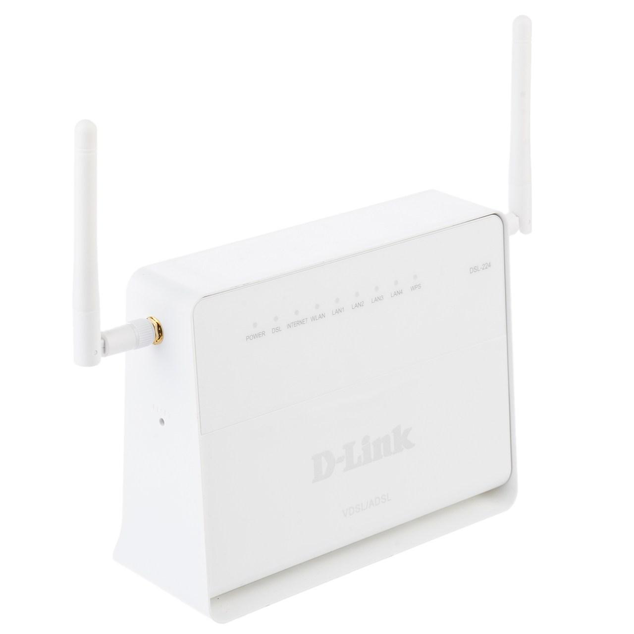 مودم روتر بي سيم ADSL2 Plus و VDSL2 دي لينك مدل DSL-224