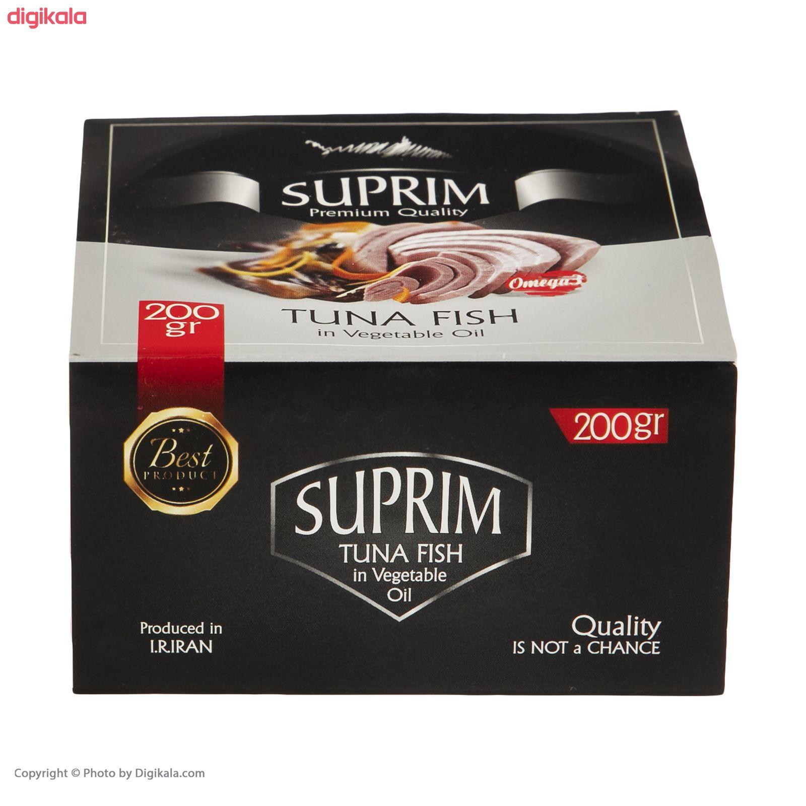 کنسرو ماهی تن در روغن ساپریم - 200 گرم   main 1 5