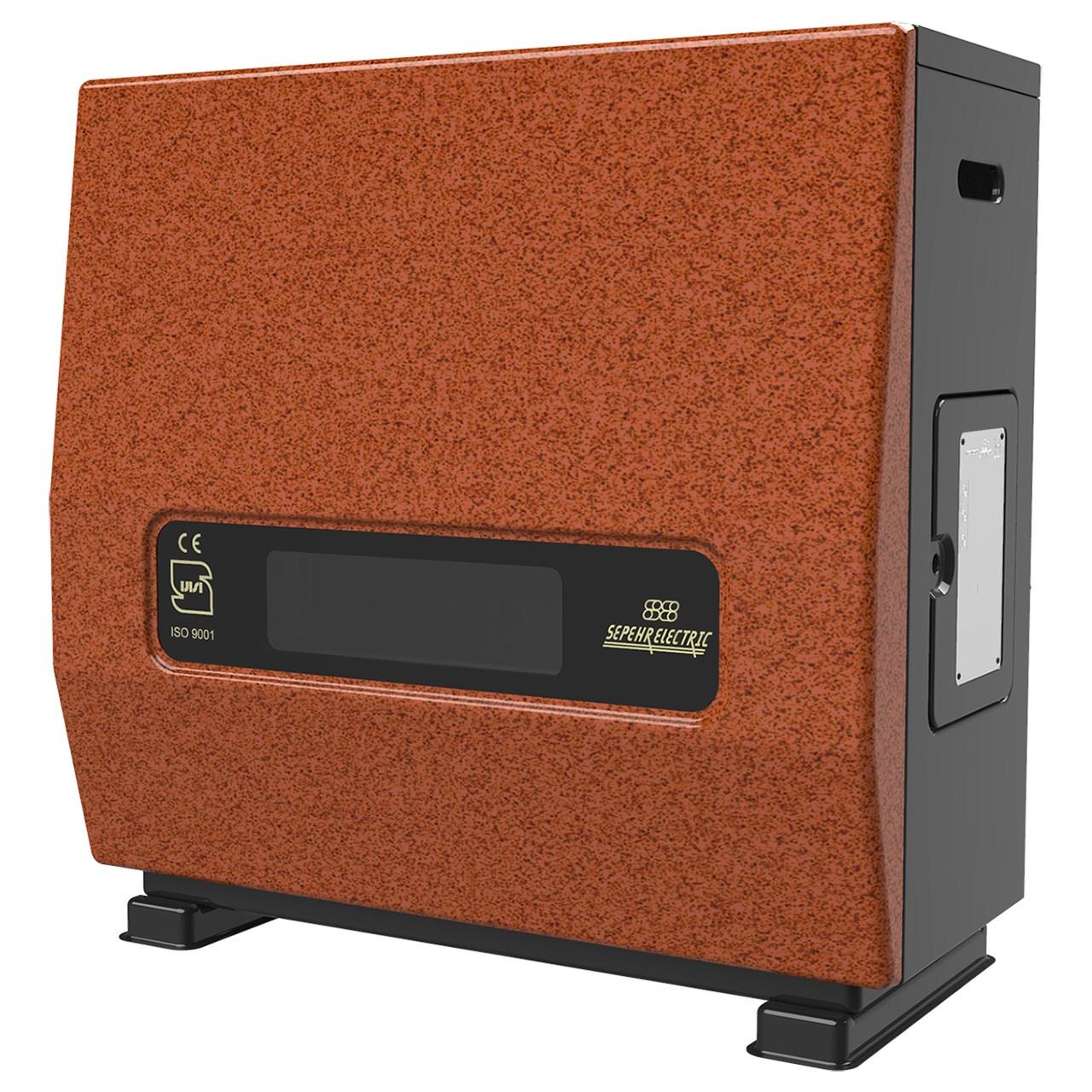 بخاری گاز سوز سپهر الکتریک مدل پگاه SE9000 نمای جلو مسی
