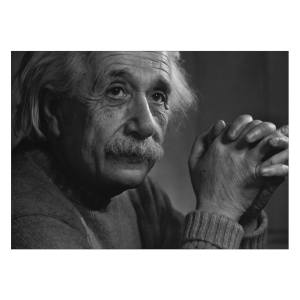 تابلو شاسی ونسونی طرح Albert Einstein سایز 30 × 40