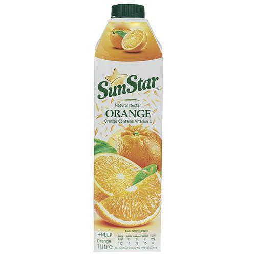 نکتار پالپ دار پرتقال سان استار حجم 1 لیتر