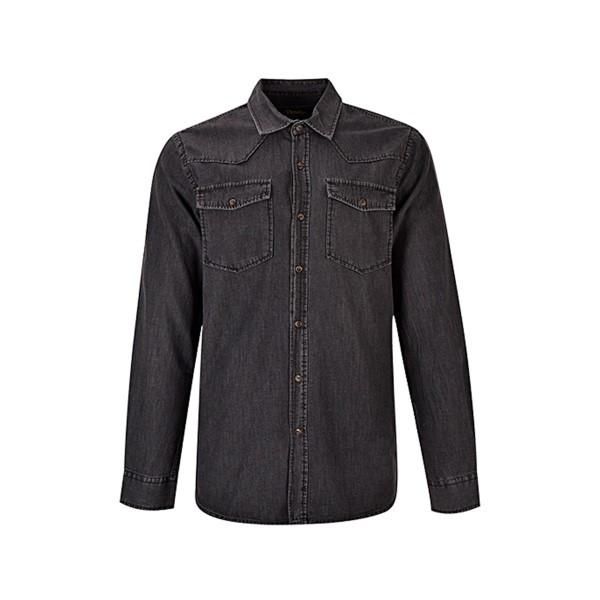 پیراهن آستین بلند مردانه بادی اسپینر مدل 2533 کد 1 رنگ ذغالی