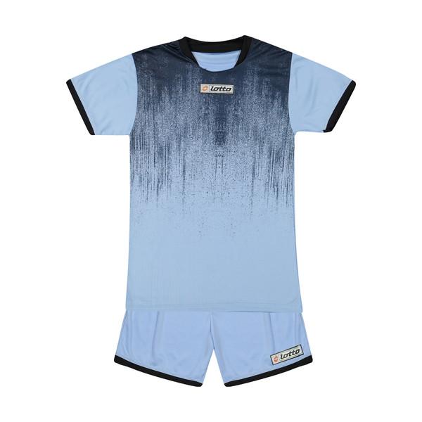 ست پیراهن و شورت ورزشی مردانه مدل آتی 2021 رنگ آبی