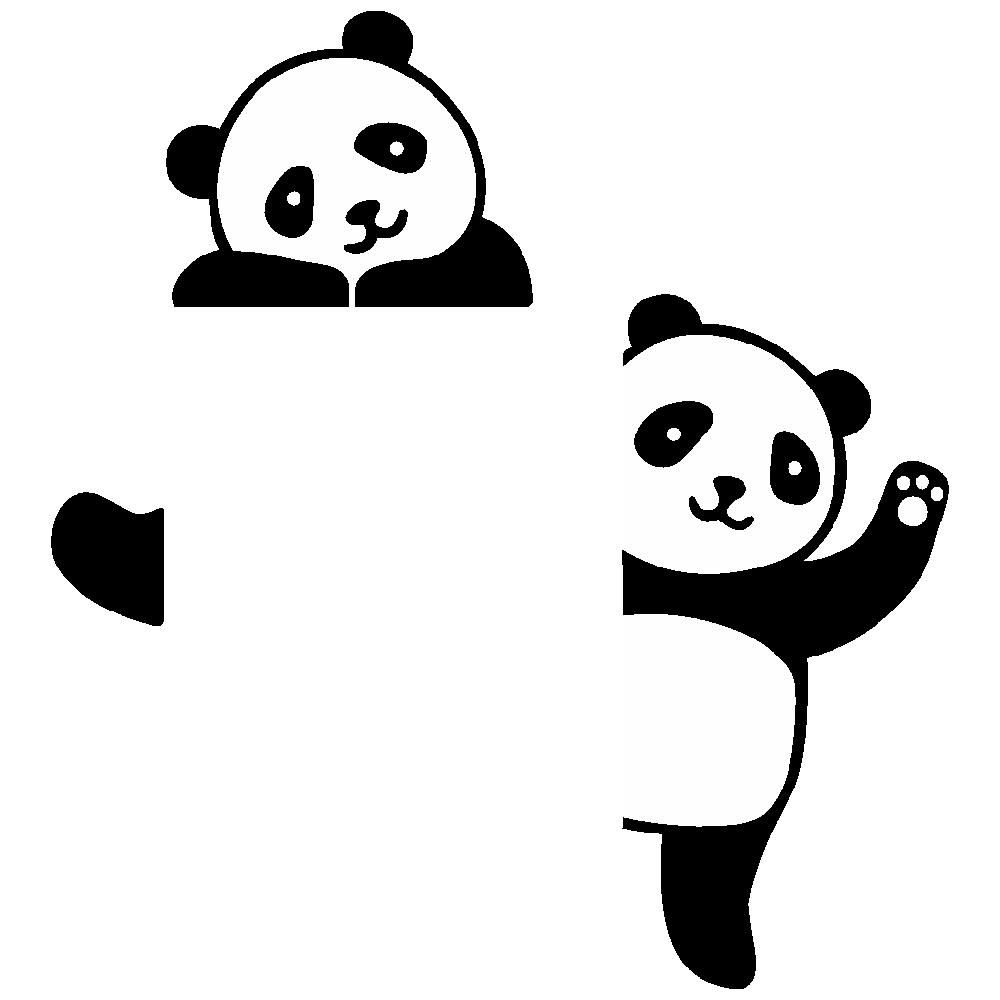 استیکر فراگراف  کلید و پریز FG طرح خرس پاندا کد 053