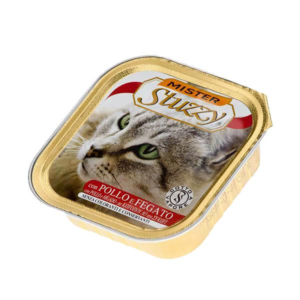 کنسرو غذای گربه استوزی مدل CHICKEN & LIVER وزن 100 گرمی