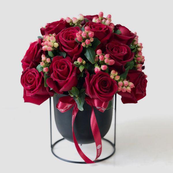 گلدان رز هلندی گل گیفت کد GG0015