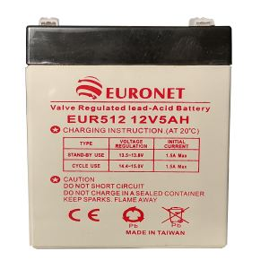 باتری یو پی اس 12 ولت 5 آمپر ساعت یورونت مدل EUR512